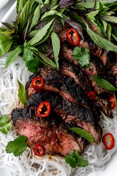 Thai Lime Beef over Bean Thread Noodles — Cooking with Cocktail Rings Thai Beef Recipe, Tasty Steak Recipe, Grilling Recipes, Meat Recipes, Asian Recipes, Ethnic Recipes, Healthy Recipes, Beef Marinade, Marinated Steak