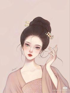 Girly Drawings, Anime Girl Drawings, Art Drawings Sketches, Emo Anime Girl, Chica Anime Manga, Cute Cartoon Images, Cartoon Art, Korean Art, Beautiful Anime Girl