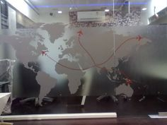 BION Interior Graphics: Commercial Interior Glass Graphic For Office