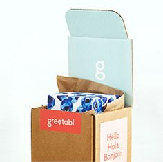 greetabl - customized mini gift boxes ...  Great idea for little gifts to send to friends, WAY overpriced.  Pinning this to steal this idea and DIY it.
