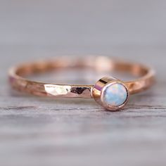 Rose Gold Luna Opal Ring | Bohemian Gypsy Jewels | Indie and Harper