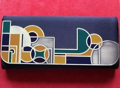 "Shanghai Tang Multi-Color Geometric Magnetic ""Bauhaus"" Clutch  #ShanghaiTang #Clutch"