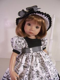"""""""Kozy Kats"""" Made for 13"""" Effner Little Darling ~ by Treasured Doll Designs"""