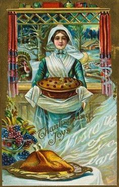 Vintage Thanksgiving Postcard | More outfits like this on the Stylekick app! Download at http://app.stylekick.com