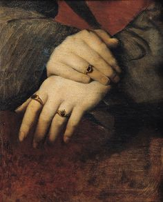 Jean Auguste Dominique Ingres, Woman's Hands, after the portrait of Maddalena Doni by Raphael, 19th century
