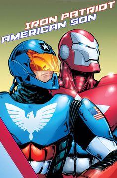 Armor - Iron Patriot (Norman Osborn) and American Son (Harry Osborn) Marvel Villains, Marvel Heroes, Marvel Dc, Marvel Comics, Iron Spider Suit, Squadron Supreme, Harry Osborn, Iron Man Armor, Evil Geniuses