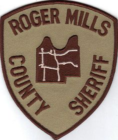 ROGER MILLS COUNTY SHERIFF DEPARTMENT (OKLAHOMA) POLICE/SHERIFF PATCH