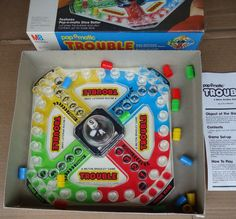 trouble game vintage Pop O Matic Board Game by collectorsmecca