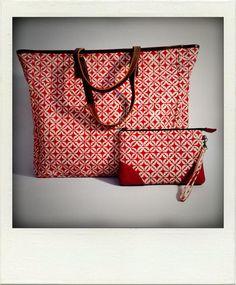 Large tote bag & pouch - Batik Garut