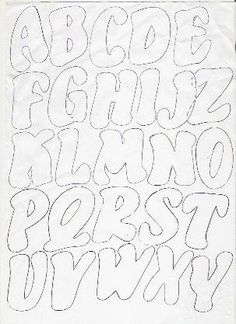 Laura Meizoso uploaded this image to 'Minimundofofuchas& See the album on Photobucket. Graffiti Lettering Fonts, Graffiti Words, Hand Lettering Alphabet, Graffiti Alphabet, Lettering Styles, Calligraphy Letters, Lettering Design, String Art Templates, Alphabet Templates