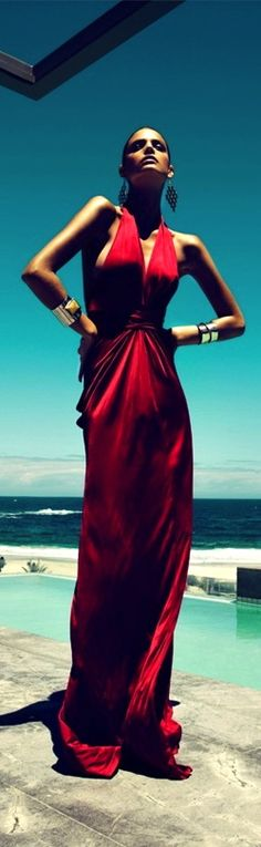 Red Maxi gown Repinned by www.fashion.net
