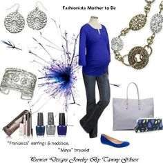 Even a mother to be can be a Fanishista. Premier Designs Jewelry by Tammy Gibson