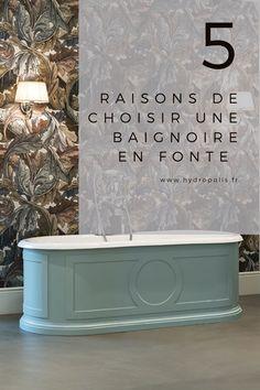 Chic et glamour, personne ne résiste à cette tendance intemporelle qui passe les siècles sans prendre une ride ! Voici les 5 raisons pour lesquelles vous devez choisir une baignoire en fonte pour votre salle de bains. Magazine Deco, Voici, Baroque, Bathtub, Glamour, Bathroom, Style, Art Deco, Standing Bath