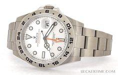 Men Rolex Stainless Steel Explorer II Watch Orange Hand w/White Dial 216570 Rolex Submariner No Date, Rolex Datejust, Rolex Watches, Watches For Men, Rolex Explorer Ii, Rolex Gmt Master, Rolex Oyster Perpetual, Rolex Daytona, Stainless Steel