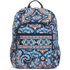 Vera Bradley Campus Backpack in Marrakesh Cute Backpacks, School Backpacks, Black School Bags, Rucksack Bag, Backpack Brands, Zipper Bags, Vera Bradley Backpack, Handbags, Bottle Bag
