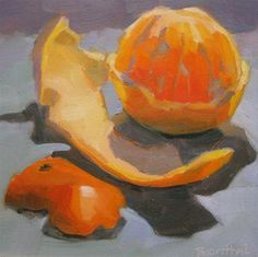 """Peeled Orange"" - Original Fine Art for Sale - © Robin Rosenthal"
