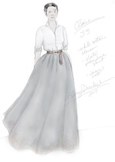 Claire's outfit - created by costume designer Terry Dresbach of the Outlander_Starz TV series - Voyager ♥️♥️♥️ Diana Gabaldon Outlander Series, Outlander Book, Terry Dresbach, Scottish Clothing, Outlander Costumes, Outlander Season 4, 18th Century Dress, Claire Fraser, Beautiful Costumes