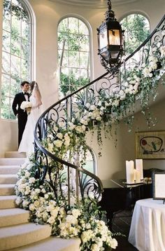 Elegant wedding ideas to wow your guests---elegant and classy wedding decor. Elegant wedding ideas to wow your guests—elegant and classy wedding decorations with lush wh Black Tie Wedding, Elegant Wedding, Floral Wedding, Perfect Wedding, Wedding Flowers, Dream Wedding, Trendy Wedding, Hair Wedding, Black Tie Formal