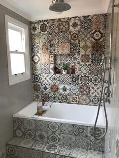 chic farmhouse bathroom design ideas with shower - bathroom - . chic farmhouse bathroom design ideas with shower Top Bathroom Design, Master Bathroom Design, Moroccan Bathroom, Bathrooms Remodel, Bathroom Decor, Scandinavian Bathroom, New Toilet, Tile Bathroom, Zen Bathroom