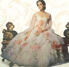 Emma watson flower dress belle