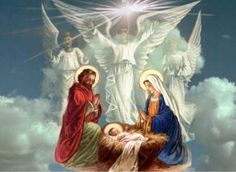 christmas holy pictures | This beautiful Christmas card features a touching image of the Holy ...