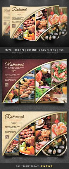 Restaurant Flyer Template — Photoshop PSD #fast food #lunch flyer • Available here → https://graphicriver.net/item/restaurant-flyer-template/14209294?ref=pxcr