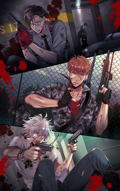 Manga Art, Manga Anime, Anime Art, Handsome Anime Guys, Hot Anime Guys, Fanarts Anime, Anime Characters, Anime Gangster, Desenhos Cartoon Network