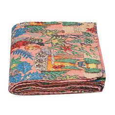 Indian kantha quilt, Kantha Quilt, Kantha Throw, Indian Quilts, Cotton Kantha, bohemian quilt, Indian Kantha, Boho Quilt, frida kantha, Quilt Bedding, Cotton Bedding, Cotton Quilts, Cotton Fabric, Bohemian Quilt, Bohemian Bedding, Kantha Quilt, Twin Quilt Size, Quilted Throw Blanket