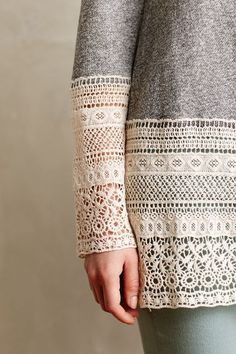 Recessed Lace Sweatshirt #anthrofave