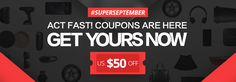 Act now! US $50 discount coupon.  GET YOURS NOW AT #SUPERSEPTEMBER