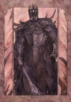 Therefore Morgoth came, climbing slowly from his subterranean throne, and the rumour of his feet was like thunder underground. ~ The Silmarillion, Chapter 18 ('And Morgoth came.' by Gold-Seven, deviantART)