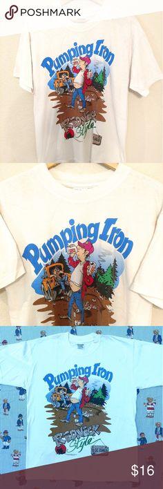 5999b1365d52 Vtg 1998 Redneck Back Woods Beer Graphic Tshirt