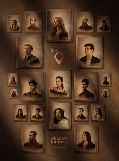 'Shadow World Portrait' Poster by IconicNephilim Shadowhunters Series, Shadowhunters The Mortal Instruments, Clary Et Jace, Foto Poster, Jace Wayland, Clace, The Dark Artifices, Best Friend Tattoos, City Of Bones
