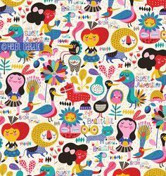 orange you lucky! Vintage Flowers Wallpaper, Cute Patterns Wallpaper, Magazine Illustration, Children's Book Illustration, Textile Patterns, Print Patterns, Pattern Art, Pattern Design, Doodle Art Drawing