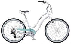 Giant Simple Seven W Womens Cruiser Bike 2012 (White/Light green)