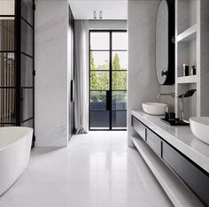 Monochromatic bathroom