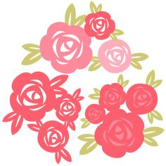 Daily Freebie Miss Kate Cuttables--Rose Set SVG cutting file for scrapbooking free svg cuts free svgs flower svg files Flower Svg, Flower Clipart, Vinyl Crafts, Vinyl Projects, Silhouette Cameo Projects, Cricut Creations, Planner, Svg Cuts, Paper Flowers