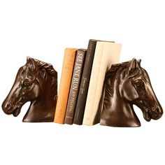 I pinned this 2 Piece Horsehead Copper Bookend Set from the Animal Attraction event at Joss and Main!