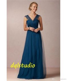 Royal Blue Bridesmaid Dresses Tulle Long Wedding Party Dresses 2017 New Arrival Long Formal Gowns Burgundy,Champagne Formal Dress Dresses For Weddings From Dqlstudio, $82.71| Dhgate.Com