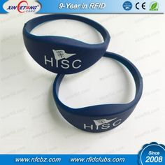 Access Control Security & Protection Practical Rfid Bracelet 13.56mhz I-code 2 Soft Silicon Rfid Wristband For Electronic Safe Lock