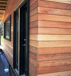 Garapa hardwood rain screen siding