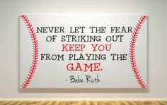 """Baseball Quote - Canvas Painting - 11""""X14"""" 