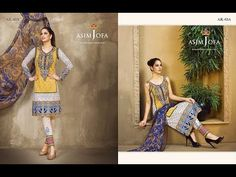 Luxury Shawl Embroidery Dress 2017 to 2018 Asim Jofa