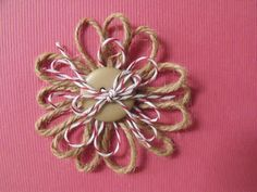 The Kraft Journal hosted by KraftOutlet.com: Watch Us Wednesday with Karen: Quick and Easy Hemp and Twine Flowers