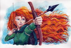 Merida - Brave by RogerioBasile on deviantART