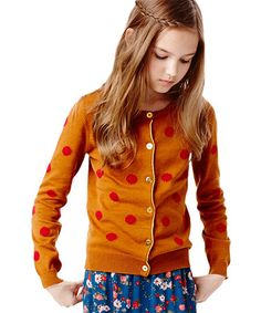 Love this Ginger Dot Cardigan - Infant, Toddler & Girls by RUUM on #zulily! #zulilyfinds
