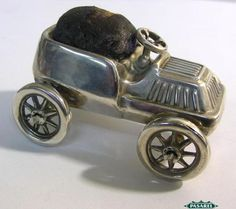 Edwardian Sterling Silver Car Pin Cushion