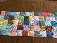 Quilt table runner  scrap quilt table topper  by AlwaysStitches                                                                                                                                                                                 More