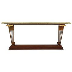 Art-deco Console Table | From a unique collection of antique and modern console tables at https://www.1stdibs.com/furniture/tables/console-tables/