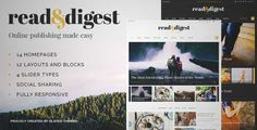 Download and review of Read and Digest - Theme for Magazines, Newspapers and Blogs, one of the best Themeforest Magazine & Blogs themes {Download & review at|Review and download at} {|-> }http://best-wordpress-theme.net/read-digest-magazines-newspapers-s-download-review/